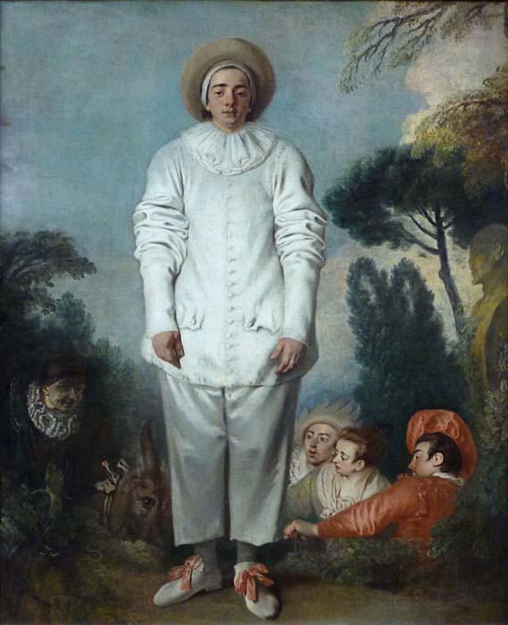 Jean-Antoine Watteau, Pierrot dit autrefois Gilles, 1718-19