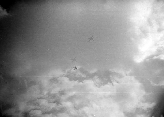 One Plane Three Times