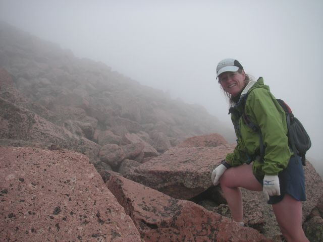 Lisa Butler hikes Pikes Peak in Colorado