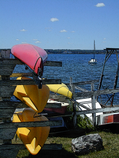 kayaks on seneca lake...