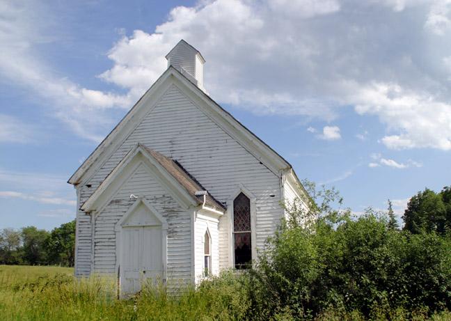 old church outside aurora, ny