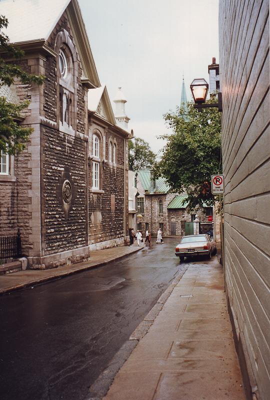 Rainy Street, Old Quebec City