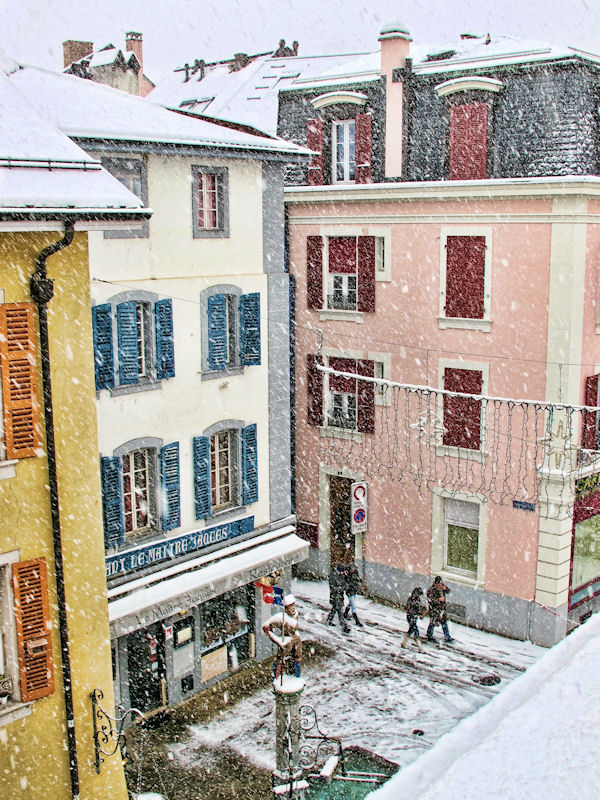 Looking  down from my window I saw winter coming....