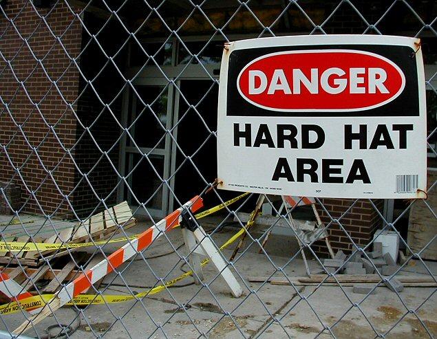 Beware of Flying Hard Hats