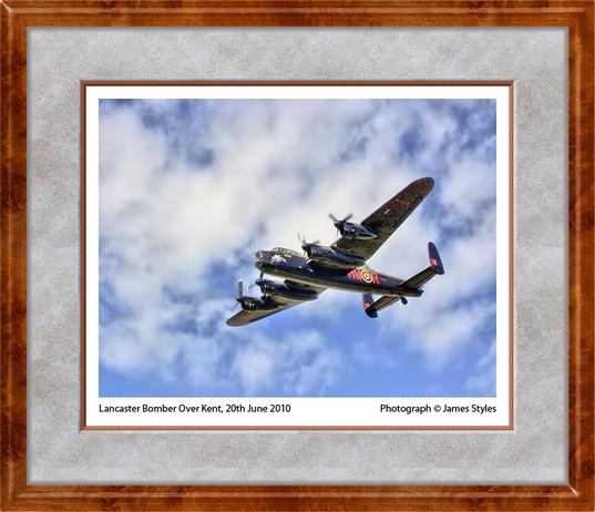 James Styles Lancaster Bomber edit 2 framed.jpg