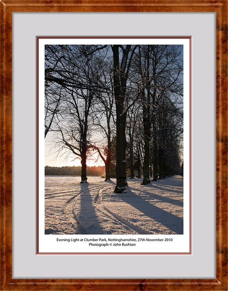 Snow in Clumber Park 1 edits titled web framed 9208.jpg