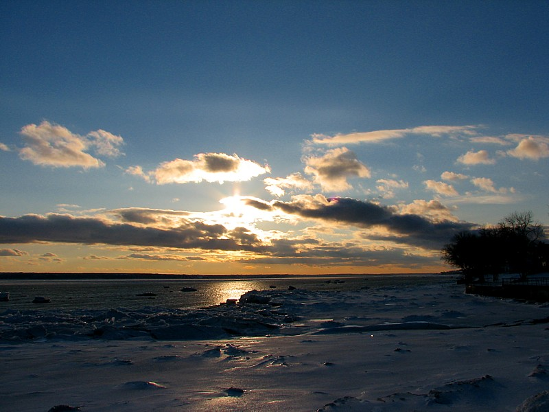 coucher de soleil à Portneuf