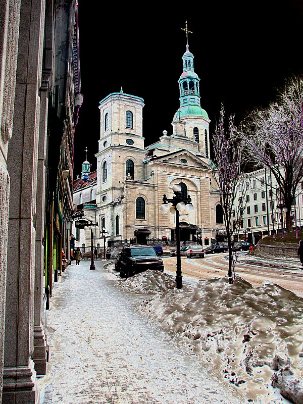 Le ciel noir de Québec