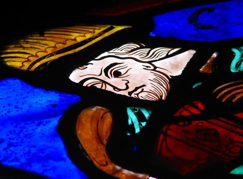 Bourges,  détail de vitrail