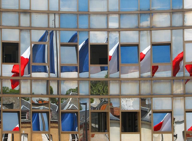 drapeau français en quilt