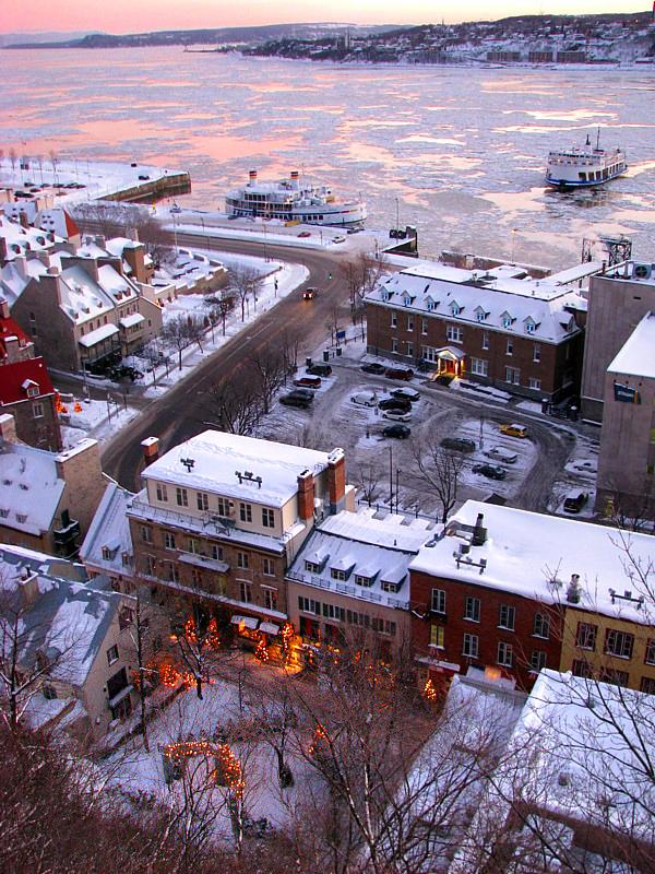 lueurs dhiver au petit Champlain