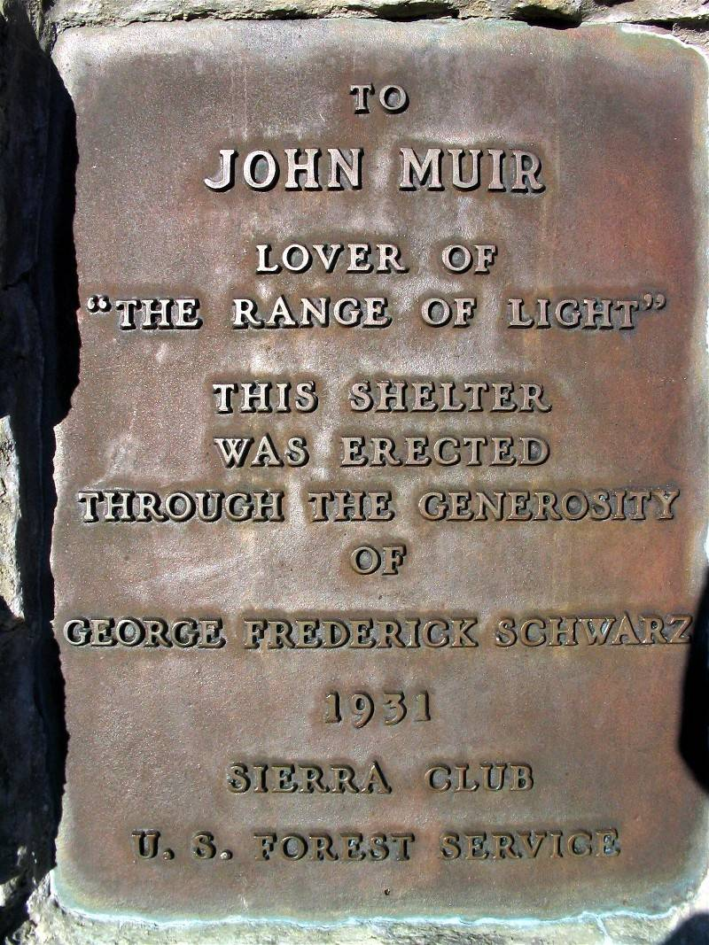 Plaque on the John Muir Shelter Memorial on Muir Pass