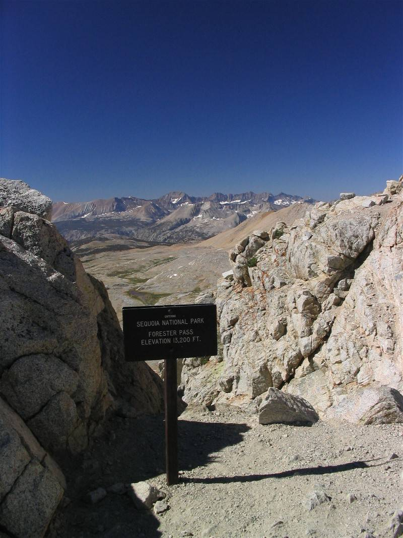 Forester Pass, on the border of Kings Canyon-Sequoia National Parks