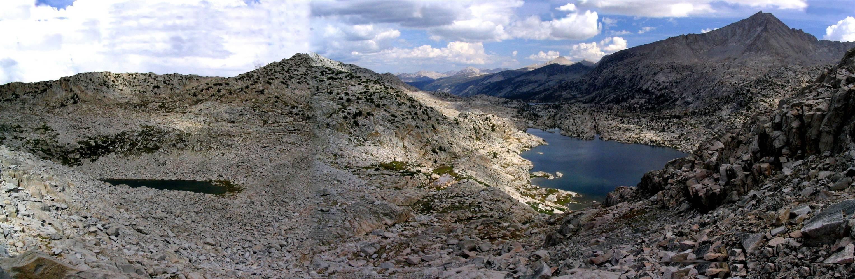 Three Island Lake view from Senger pass