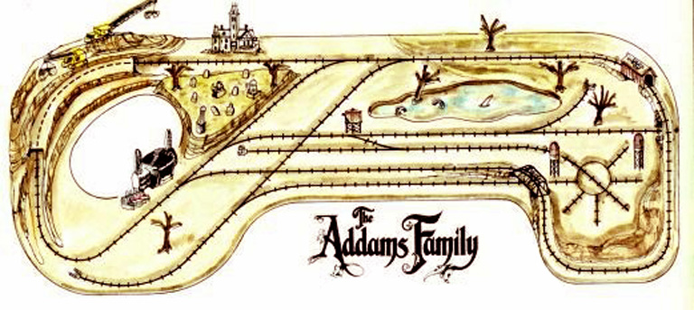 The Actual Layout of the<br>Addams Family Train Set
