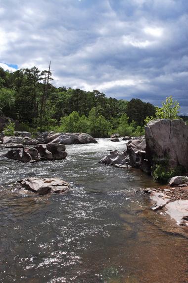 Upstream toward Millstream Garden