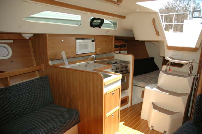An interior shot if the galley..
