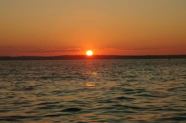 Sunset Near Snow Island