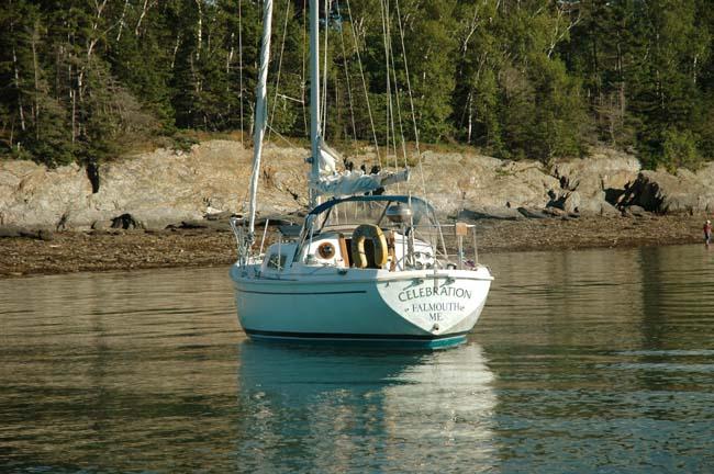 Pearson 30 At Anchor
