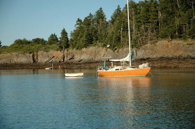 The Orange Folk Boat