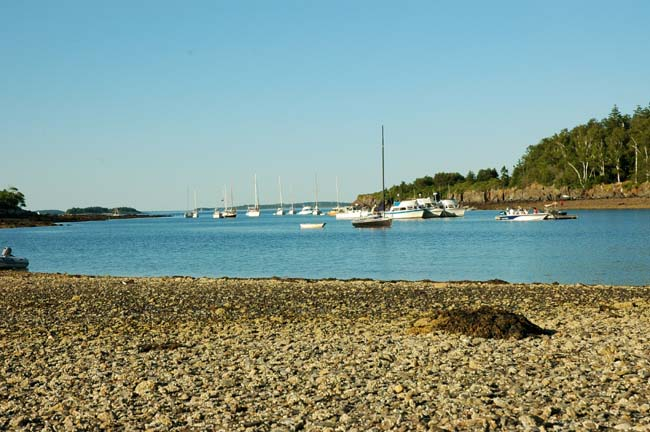 Jewell Island Cove On A Busy Summer Weekend