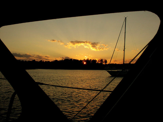 Sunset Through The Dodger Window