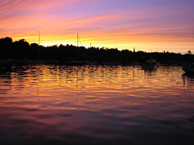 Sunset - Round Pond