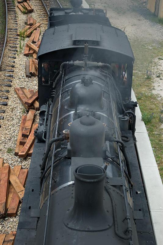A Steam Train Passes