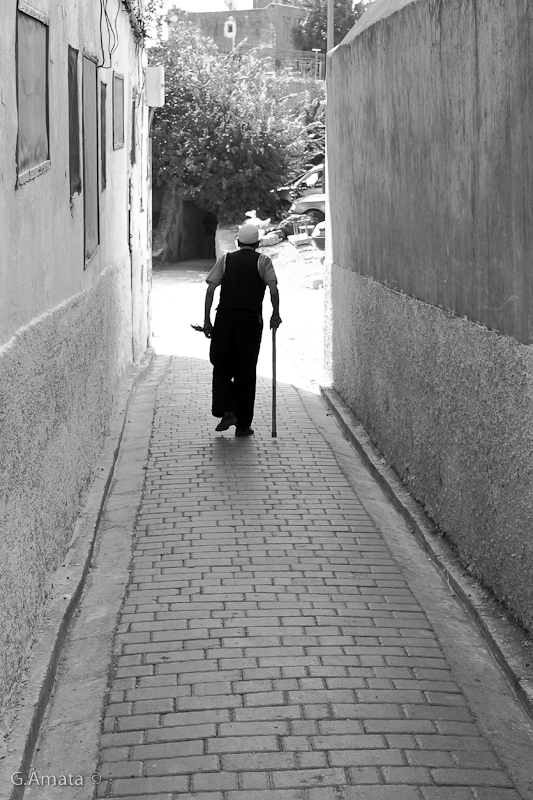 walking in the alley