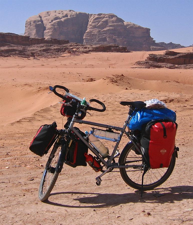 037  Marc - Touring through Jordan - VSF T400 touring bike