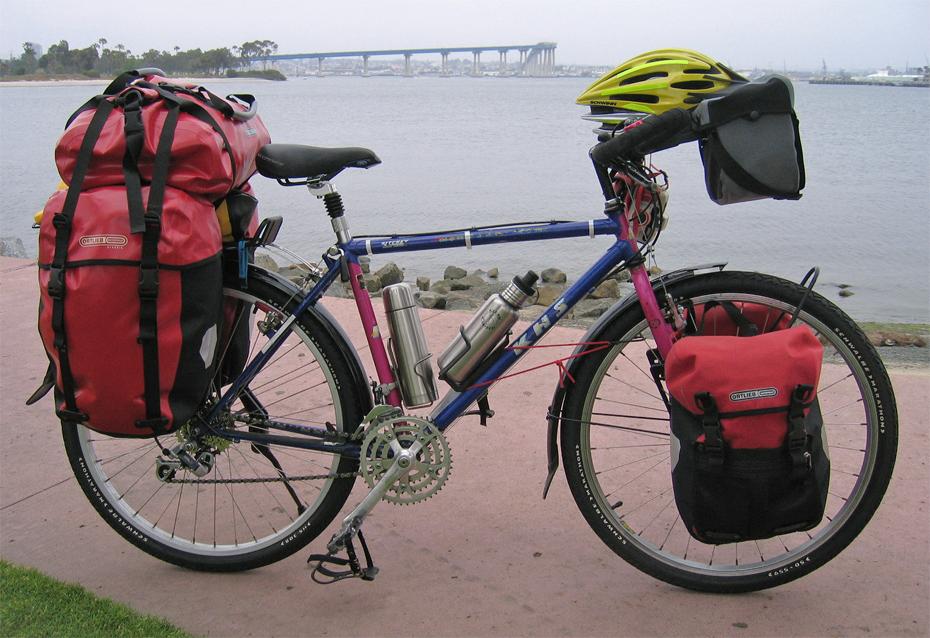 057  Amanda - Touring California - KHS unknown touring bike