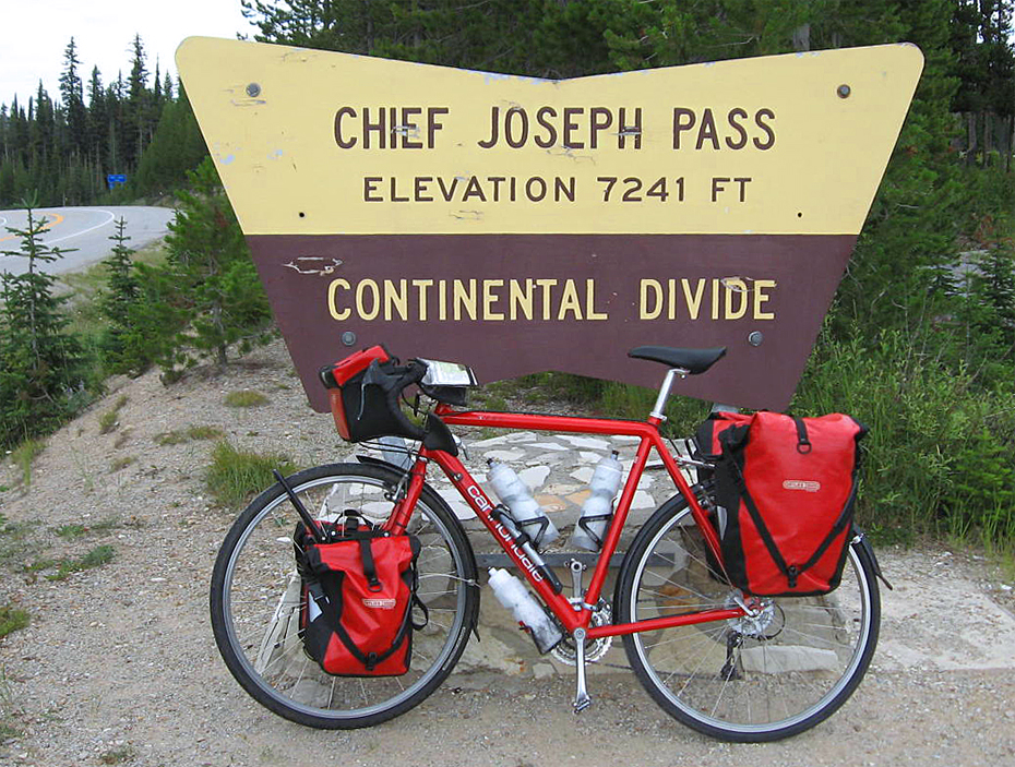 087  Jeff - Touring through Montana - Cannondale T400 touring bike