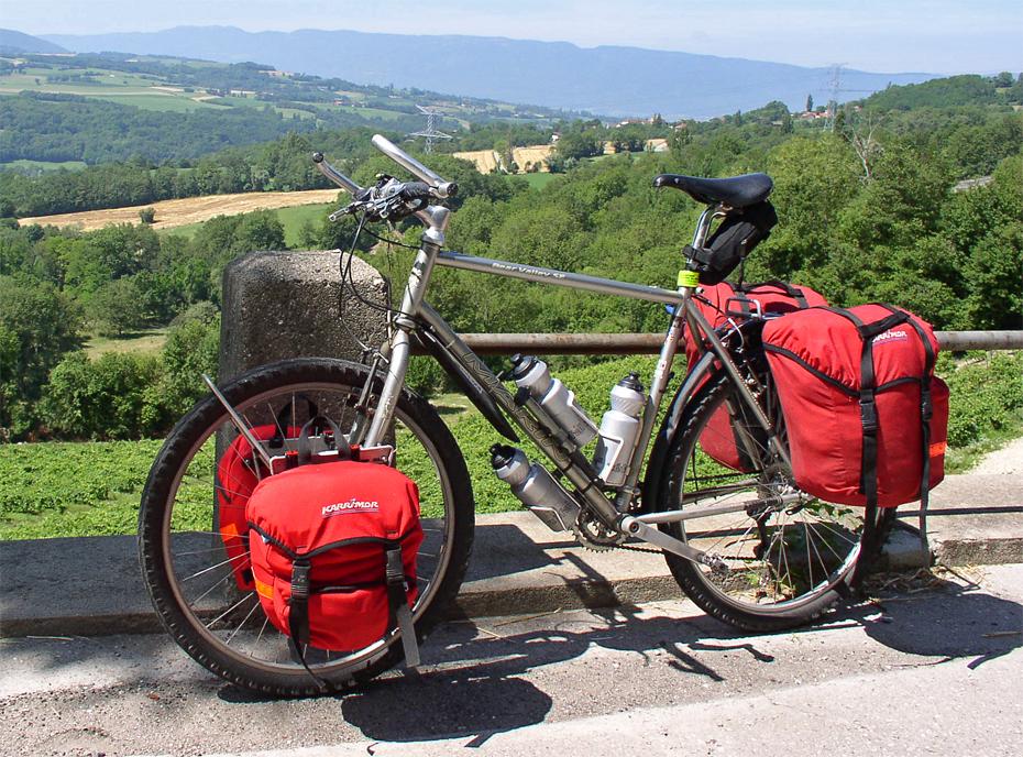 083  Steve - Touring through France - Marin Bear Valley SE touring bike