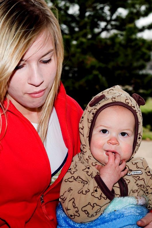 With Aunt Lauren