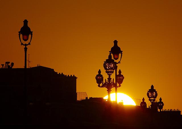 Sunset at Paris 1