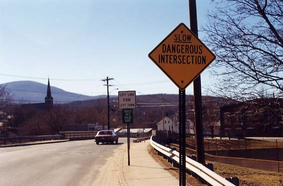 Slow Dangerous Intersection (North Adams, MA)