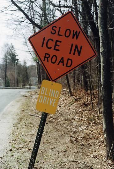 Slow Ice In Road (Westfield, MA)