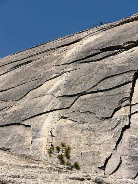 The famous Half Dome cables
