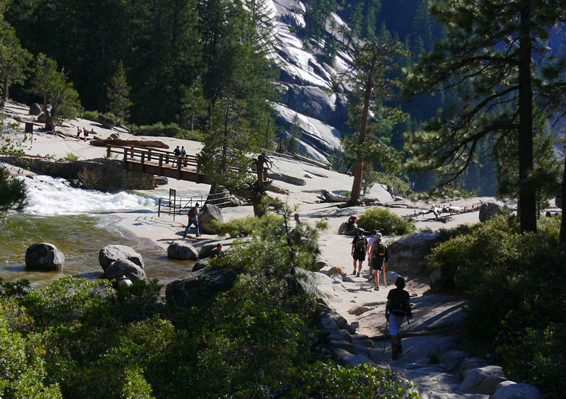 To the Nevada Falls Bridge