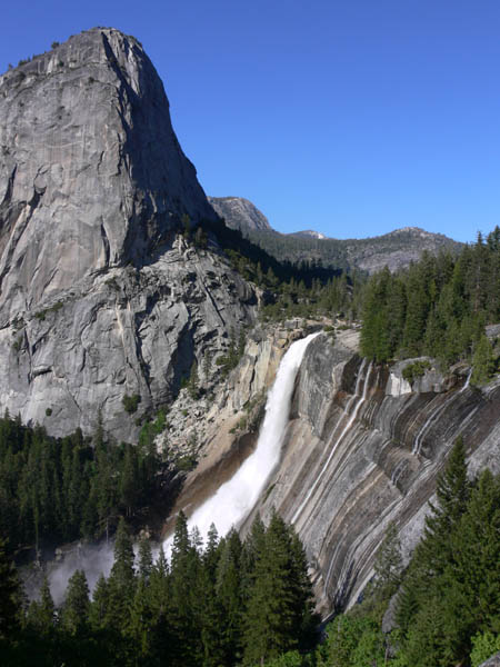 Nevada Falls and Liberty Dome.