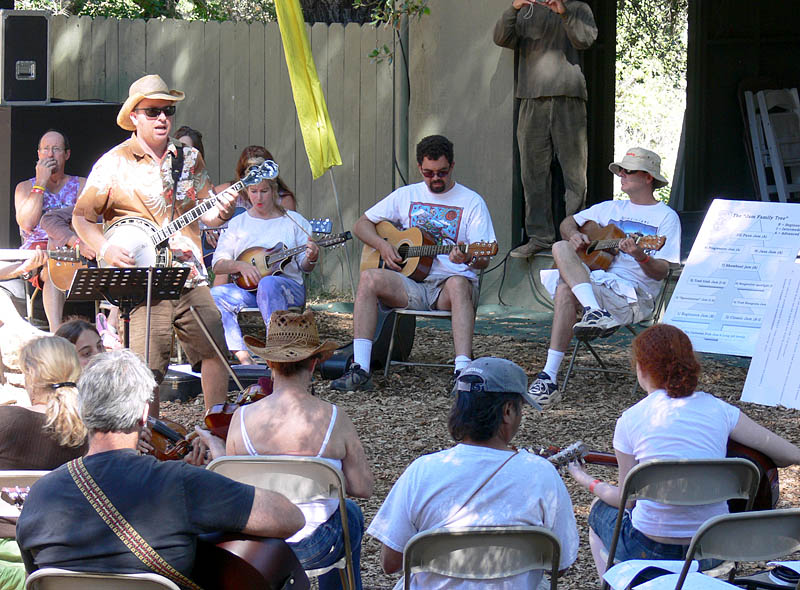 Sid Lewis teaches a morning Jammin 101 class