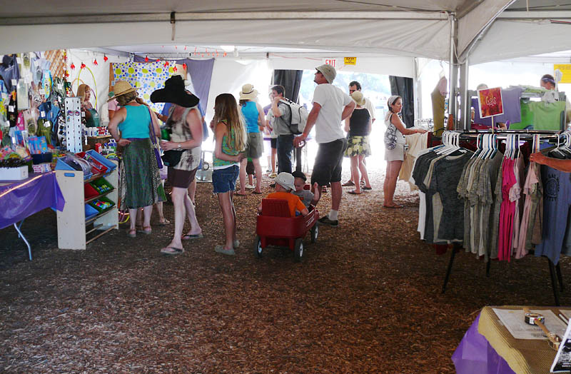 Busy KCBX tent
