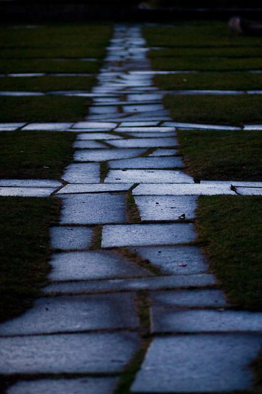 The stone laid path
