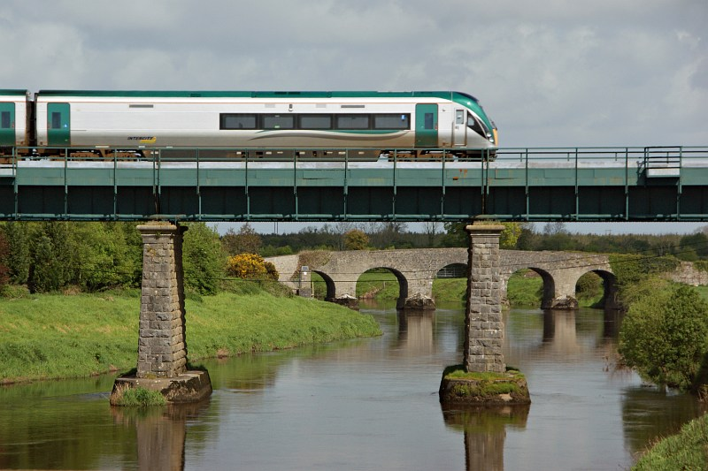Another train crossing the Barrow, Monasterevin