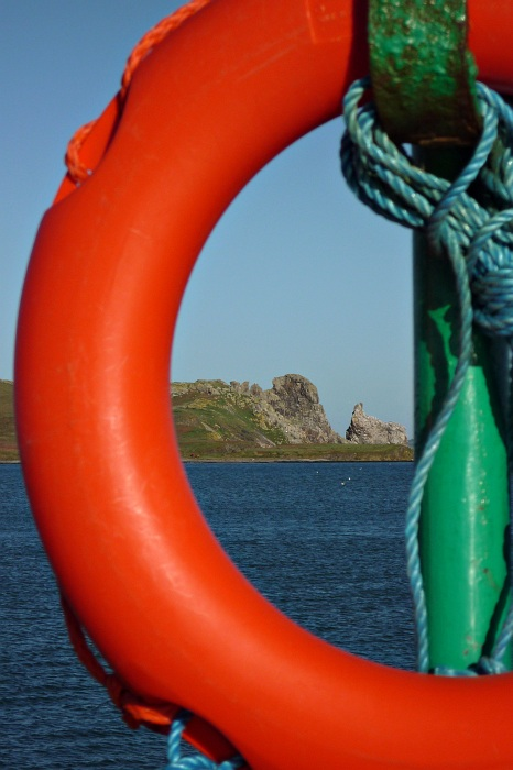 Towards Irelands Eye from Howth Harbour