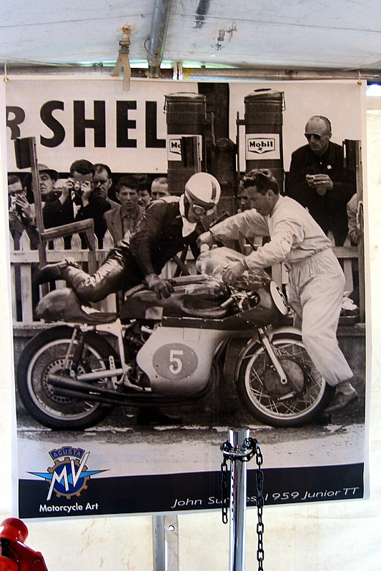 Poster in the tent of John Surtees