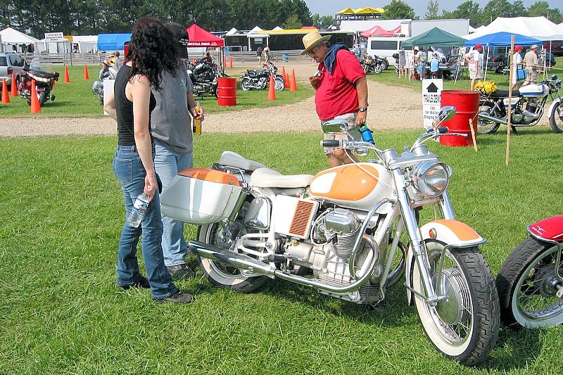 Creamsicle Moto Guzzi