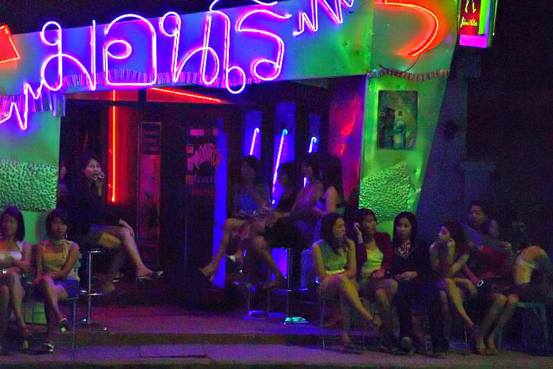 Thai Bar hostesses waiting for customers