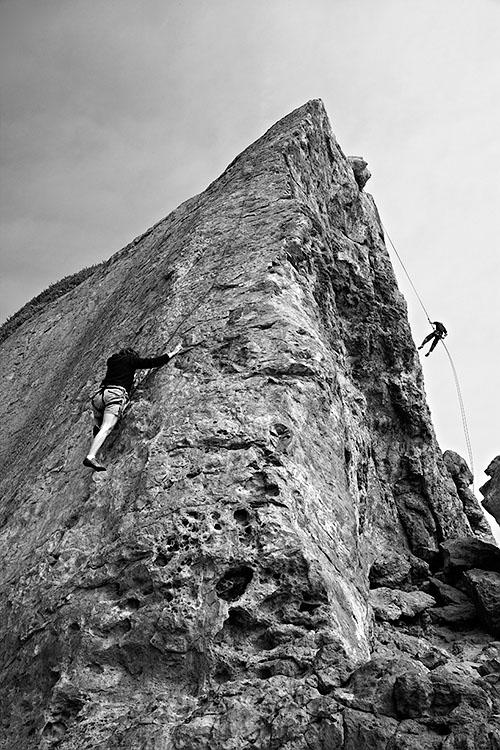 Zuma Beach climbers