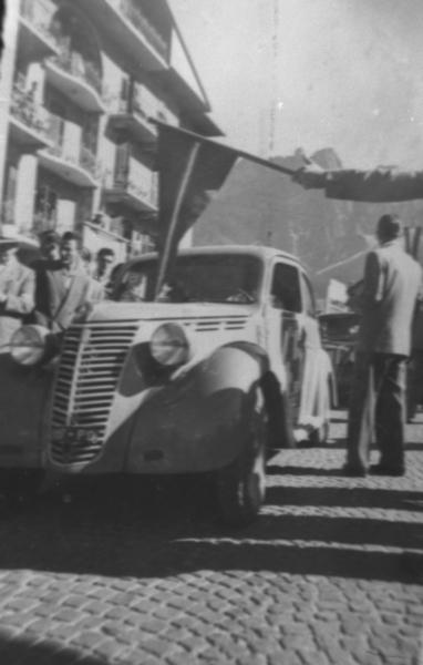 Munaretto-Andretta-Coppa Dolomiti 1950  (Passo Falzarego) Fiat 1100 E